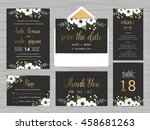 set of wedding suite template... | Shutterstock .eps vector #458681263