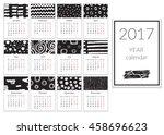 calendar 2017 year  a4 cards... | Shutterstock .eps vector #458696623