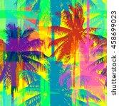tropical seamless pattern... | Shutterstock .eps vector #458699023
