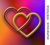 valentine double heart | Shutterstock . vector #45870316