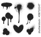 spray paint vector set. paint... | Shutterstock .eps vector #458710147