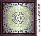 symmetrical floral vintage...   Shutterstock .eps vector #458717287