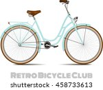 The Old Blue Classic Bicycle....