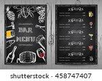 design bar menu  template...   Shutterstock .eps vector #458747407