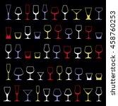 decorative drinking glasses... | Shutterstock . vector #458760253