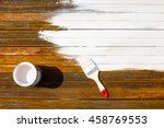 painting with white paint rusty ... | Shutterstock . vector #458769553