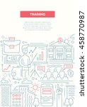 business training   vector line ... | Shutterstock .eps vector #458770987