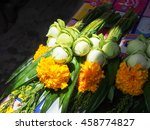 fresh lotuses with yellow ... | Shutterstock . vector #458774827