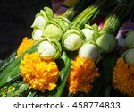fresh lotuses with yellow ... | Shutterstock . vector #458774833