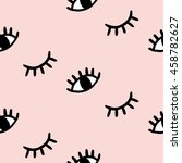 vector hand drawn eye doodles... | Shutterstock .eps vector #458782627