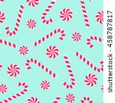 candy cane and lollipop... | Shutterstock .eps vector #458787817
