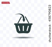 vector shopping basket icon | Shutterstock .eps vector #458790823