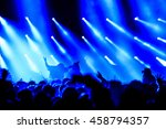 silhouette concert people on... | Shutterstock . vector #458794357
