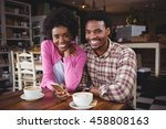 portrait of happy young couple...   Shutterstock . vector #458808163