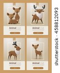 Animal Banner With Deers For...