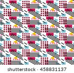 abstract seamless geometrical... | Shutterstock .eps vector #458831137