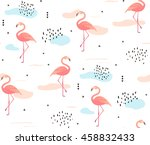 seamless pattern with pink... | Shutterstock .eps vector #458832433