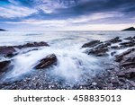 Waves Crashing At Beach  Storm...