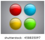 vector 3d buttons for website | Shutterstock .eps vector #458835097