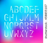 futuristic font on a blurred... | Shutterstock .eps vector #458855107