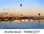 Hot Air Balloons Floating Over...