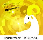christmas and new year card for ... | Shutterstock . vector #458876737
