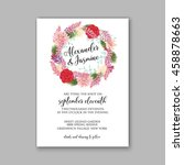wedding card or invitation with ... | Shutterstock .eps vector #458878663