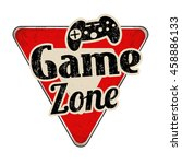 game zone vintage rusty road... | Shutterstock .eps vector #458886133
