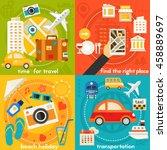 time for travel concept... | Shutterstock .eps vector #458889697