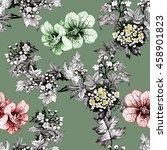 watercolor seamless pattern...   Shutterstock . vector #458901823