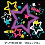 illustration vector stars with...