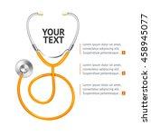 Orange Stethoscope With Place...