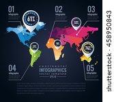 simple vector infographics... | Shutterstock .eps vector #458950843