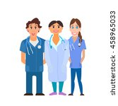 medical team. group of hospital ... | Shutterstock .eps vector #458965033