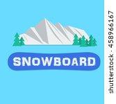 snowboarding mountain snow... | Shutterstock .eps vector #458966167