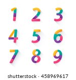 set of number infographic... | Shutterstock .eps vector #458969617