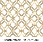 Abstract pattern in Arabian style. Seamless vector background. Gold and white texture. Graphic modern pattern. | Shutterstock vector #458974003