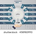 infographic design template... | Shutterstock .eps vector #458983993
