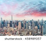 midtown manhattan  aerial view... | Shutterstock . vector #458989357