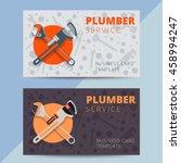set of professional plumbing...   Shutterstock .eps vector #458994247