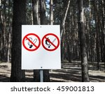 no smoking and no fire signs on ... | Shutterstock . vector #459001813