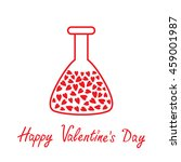 love laboratory glass with... | Shutterstock .eps vector #459001987