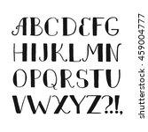 hand drawn alphabet symbol icon ... | Shutterstock .eps vector #459004777