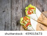 delicious tortilla fast food... | Shutterstock . vector #459015673