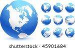 globes original vector...   Shutterstock .eps vector #45901684