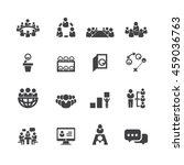 meeting icons vector | Shutterstock .eps vector #459036763