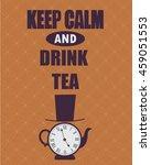 tea time in london brown poster | Shutterstock .eps vector #459051553