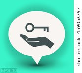 pictograph of key | Shutterstock .eps vector #459056797