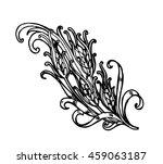 vintage floral design element.... | Shutterstock .eps vector #459063187