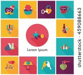 valentine's day icons set | Shutterstock .eps vector #459088663